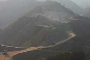 大分川ダム工事